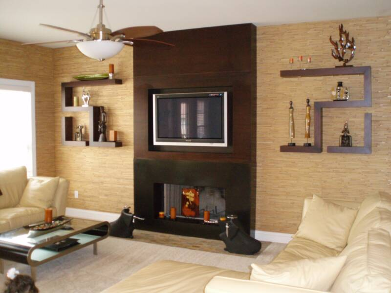design fabrication natural wall covering custom fireplace